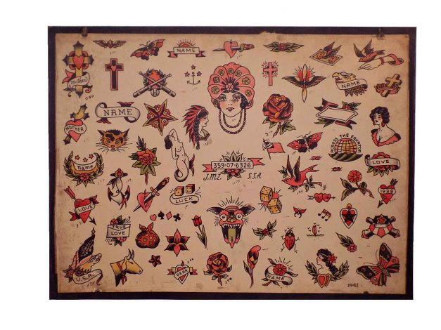 """1941"" Tattoo Flash by Milton Zeis and The Zeis Studio"