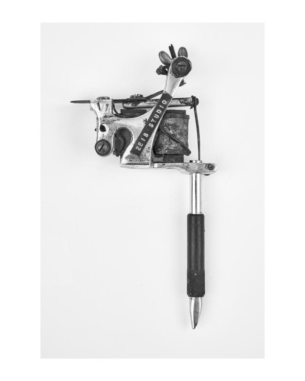 charlie geizer tattoo machine print in black and white