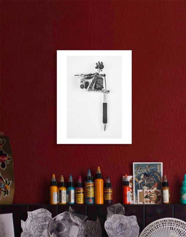 Charlie Geizer poster on tattoo wall