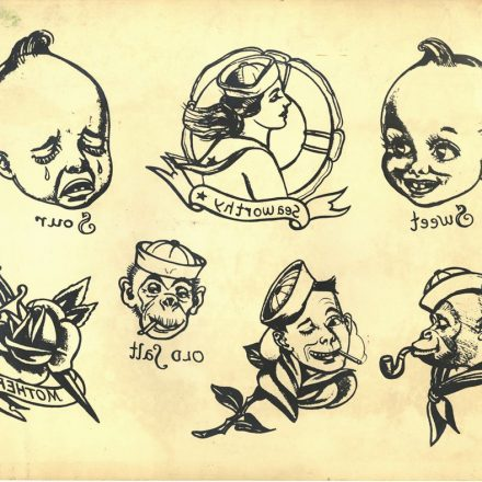 Ralph Johnstone – Sweet and Sour Tattoo Flash Sheet